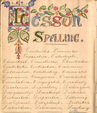 From William Samuel's 1882 home lesson book