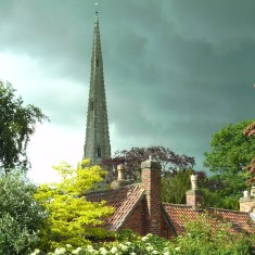 Spire from Red Lion Car Park, Stormy Afternoon, July o7