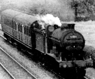 J6 engine at Orston Lane Crossing
