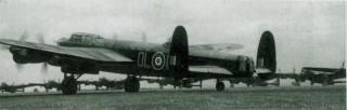 Lancasters preparing for take-off.