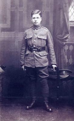 Recently volunteered: Pte. Arthur H Taylor, North Staffs Regiment