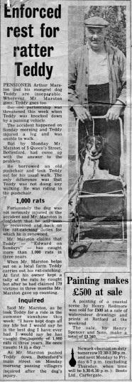 Local Newspaper story from the early 1970's