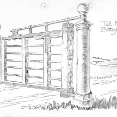 Toll Bar Bottesford - Philip Sutton recalls that for many years the metal parts of the gate were stored at Belvoir High School before removal for 'safe keeping'. Its current location is no longer known. Efforts have been made to trace its current location via the Leicestershire Museum  Service. It was thought to be in a store at Barrowby. Unfortunately we have not been able to obtain any answer to enquiries attempting to verify that information