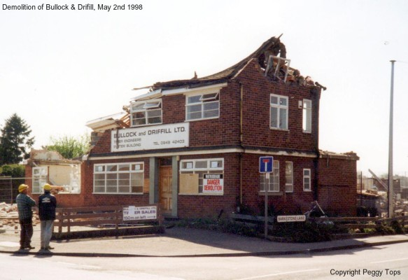 The Demolition of Bullock and Driffill captured by Peggy Topps, 2nd May 1998