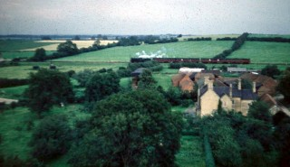 A train seen from 'Holliers'