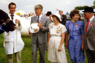 Lincolnshire Show - my former Boss, Gordon Waine the Regional Executive Director of NatWest - presenting one of the cups and I accompanied him as his wife was not available on this occasion.