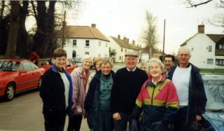 Out and About - Left to right: Marilyn Marchant, Rose Kelly, Elaine Holmes, Elva Whitehouse, John Taylor, Jean Hammond, Jean Gregory, Wally Gregory, Michael Brown