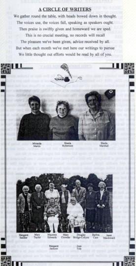 Members of the U3A Writer's Circle