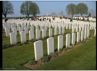 William Harby is buried at Cabaret Rouge British Cemetery, Souchez