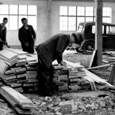 During the building of Belvoir High School, November 1958.