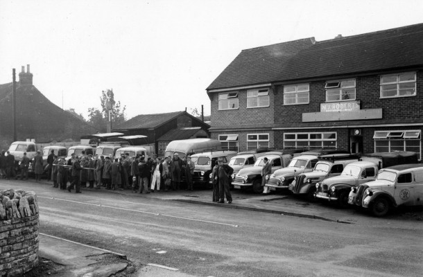 W. J. Robert's Workforce, High Street Bottesford 20th October 1958