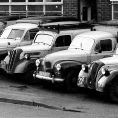 Part of Mr. Robert's fleet of vehicles, 10-10-1958