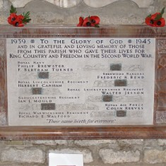 The Memorial to Parishioners who lost their lives in WW2, in St Mary's, Bottesford