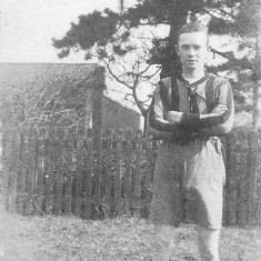 Walter Coy playing football for Woolsthorpe-by-Belvoir about the time of WW1.