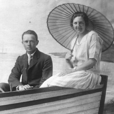 Walter and Winnie Coy, July 30th 1928, on holiday in Skegness.