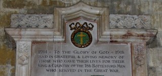 Inscription on the St Mary's, Bottesford, WW1 memorial