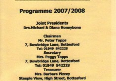 Bottesford Local History Society 2007-2008