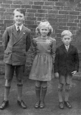 This photograph was the first of all our family at Bottesford School, with my sister Angela and brother John, taken in 1948.