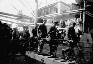 Teddy was repatriated to Canada on Hospital Ship SS Letitia and would have arrived in a scene like this.