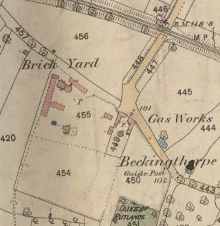 Challand's brickyard in 1884.