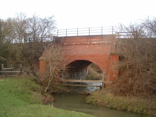 The bridge to the west of the village goes over the River Devon and carries the railway from Nottingham to Grantham. The railway opened in 1850 and the bridge may date from this time.