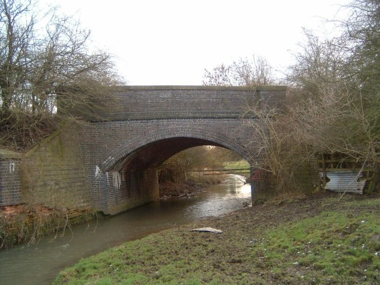 Moving upstream, the next bridge known locally as Catfish Bridge used to carry the railway lines that branched off the Grantham line to Newark and Leicester. This track was put down in 1860 and closed in 1960.