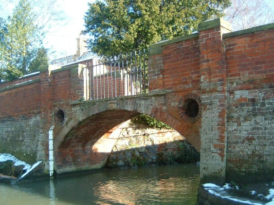 We then have The Green footbridge and the only surviving ford. This is an 18th Century bridge, built alongside the ford where Devon Lane crosses the river. | Taken by Mrs Peggy Topps.