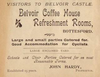 Belvoir Coffee House Advertisement circa 1900