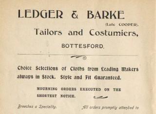 Ledger & Barke Advertisement circa 1900