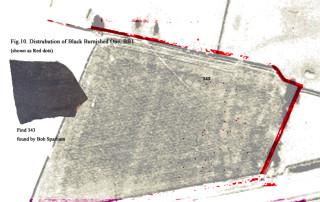 Fig 11. Distrubution Map for Black Burnished One Ware