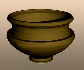 Fig 8. Computer reconstruction of Iron Age jar