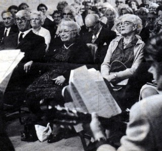 Mrs Maria Stanley (centre) at a concert in Bottesford.