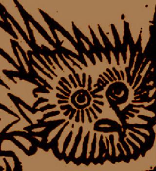 Detail of Hedgehog familiar