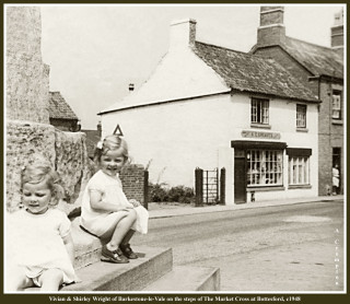 A.E. Greaves Shop in the background of this c1948 of Vivian & Shirley Wright of Barkestone-le-Vale