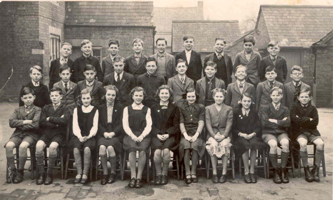 Bottesford school, about 1950 - the children posed for a group photograph in the yard at he back of the Old School on Grantham Road | Contributd by June Harkness