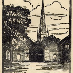 St. Mary's spire from Church Street