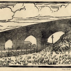 The Three-Arch Bridge, spanning the Melton-Newark Railway and the River Devon