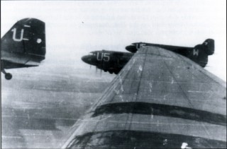 Formation of C-47 transports of the 31st Troop Carrier Squadron, 436th Troop Carrier Group, 1944