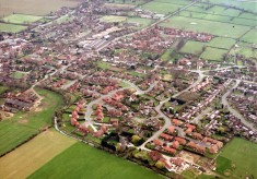 Three aerial photographs of Bottesford
