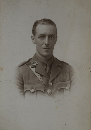 Albert Asher 2nd Lieutenant, 1st/2nd Bn. attd. 1st/5th Bn., Leicestershire Regiment | From the collection of Winifred Bass