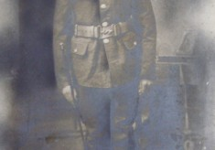 Dick Robinson's grandfather in WW1 uniform