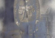 Dick Robinson's grandfather in WW1 uniform