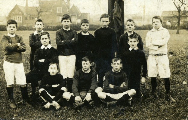 Bottesford boys football eleven of 1906 posing on the playing field. | Contributed by the family of Mr Sutton