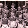 Bottesford school football team, with Mr Dewey