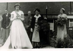 Coronation Celebration 1953, the village Festival Queen