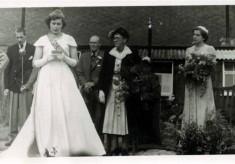 Coronation Celebration 1953, the village Festival Queen