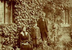 Victor Collett and family at the schoolmaster's House