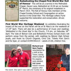 Village Voice Issue No 76 WW1 Centenary | Bottesford Village Voice