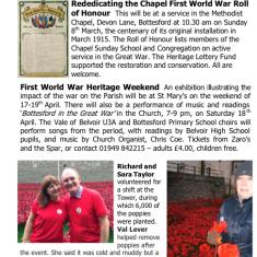 Village Voice Issue No 76 WW1 Centenary | Bottesford Village Voice
