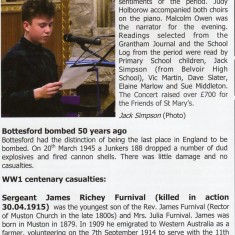 Village Voice Issue No 78 WW1 Centenary Bottesford Village Voice